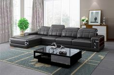 Timiyore Modern Style Leather Corner Sofa(right) - MelodyHome.com