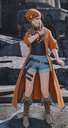 ギャザラー80装備のマフラー部分のデザインとブーツがとても気に入ったので、この二つをベースにボーイッシュな感じでミラプリしてみました! 3d Model Character, Character Outfits, Character Art, Character Design, 3d Fantasy, Final Fantasy Xiv, Ffxiv Character, Diamond Girl, Anime Dress
