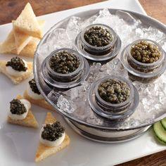 I love the Petit Petrossian Caviar Sampler on Williams-Sonoma.com