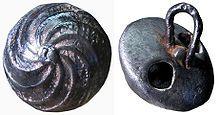 17th century Spanish metal button