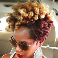 Flat twists and curls undo.  Loving this style!