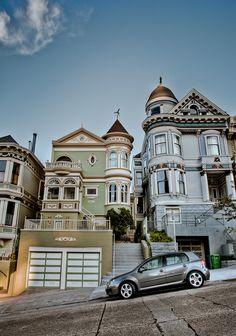 San Francisco Victorians by Joseph Fronteras, via 500px