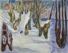 Edvard Munch - The elm forest