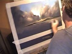 Pastel Demonstration Landscapes Skies and reflections with limited palette by Les Darlow .wmv - YouTube