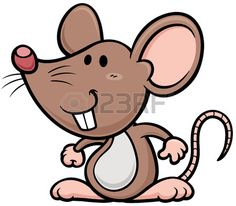 Vector illustratie van cartoon rat Stock Illustratie