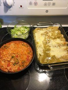 Enchilada Verdes con arroz