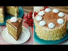 Domácí dort - dezert který bude chtít každý ochutnat.| Chutný TV - YouTube Cacao, Chocolate, Biscuits, Vanilla Cake, Tiramisu, Bread, Cookies, Ethnic Recipes, Food