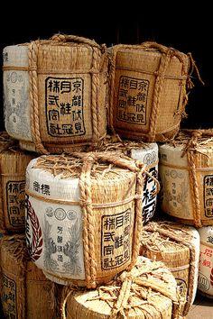 Sake barrels in Asakusa