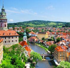 Cesky Krumlov, Czech Republic Beautiful Castles, Beautiful World, Places Around The World, Around The Worlds, European River Cruises, Travel Album, Beautiful Places To Travel, Central Europe, Eastern Europe