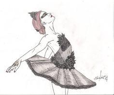 Cisne negro, black swan  #blackswan #natalieportman #draw #illustration