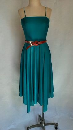 Divine Emerald Green 1970's Dress on Etsy, $45.00