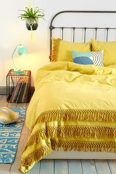 Magical Thinking Tassel Duvet Cover #urbanoutfitters