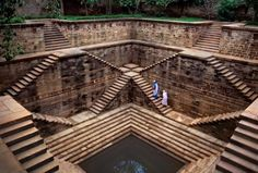 Stepwells have existed in India for hundreds of years, and helped to provide water storage during the dry seasons and offer people a place to socialise. This one was pictured in Rajasthan, India 2002. Photograph: Steve McCurry