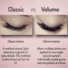 💓The difference of classic and volume lashes. 💓private label can be designed,welcome to order. Eyelash Studio, Eyelash Salon, Eyelash Curler, Eyelash Extensions Salons, Volume Lash Extensions, Eyelash Extensions Classic, Eyelash Extensions Before And After, Lash Quotes, Beauty Lash