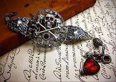 Customized Skull & Crossbones Pirate Jewelry by AfterDark on Etsy