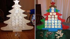 Make Your Own Christmas Tree Advent Calendar