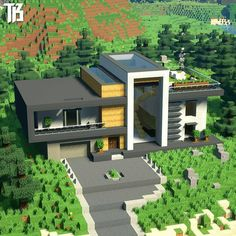 Minecraft Brick, Easy Minecraft Houses, Minecraft Plans, Amazing Minecraft, Minecraft Decorations, Minecraft Room, Minecraft House Designs, Minecraft Houses Blueprints, Minecraft Crafts
