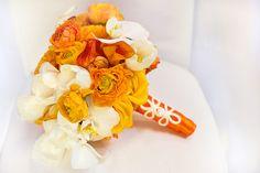 Orange Ranunculus Bouquet.