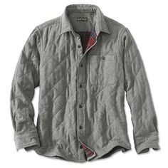 Browse our new men's apparel and find fresh looks to update your classic and casual wardrobe with impeccable style and unfailing comfort. Shop Orvis now. Man Quilt, Mens Flannel, Fleece Sweater, Shirt Jacket, Casual Outfits, Mens Fashion, Sweatshirts, Mens Tops, Jackets