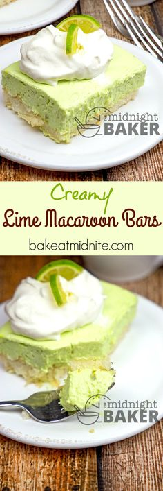 Slightly tart creamy lime filling sits on top of a coconut macaroon crust. Very…