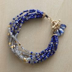 WAVELENGTHS BRACELET -- Seven strands bring endless waves of sparkling lapis and labradorites