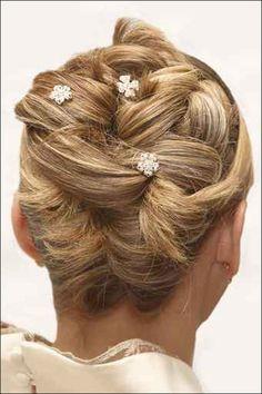blonde stylish bridal updo 2015