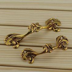 Shabby Chic Dresser Pulls Handles Drawer Handles Pulls European Style Brass…