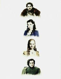 Godric Griffindor - Rowena Revenclaw - Helga Hufflepuff - Salazar Slytherin #HarryPotter #fundadores #Hogwarts