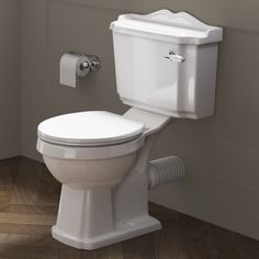 Victoria Close Coupled Toilet and Cistern - White Seat