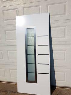 Aluminium door Brushed Stainless Steel Aluminium Front Door, Grades, Brushed Stainless Steel, Interiors, Mirror, Furniture, Home Decor, Windows, Doors