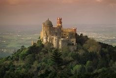 Simply Sintra: magic and mystery on Portugal's Atlantic coast by Isabel Choat in The Guardian Pic: Pena National Palace, Sintra, Portugal Sintra Portugal, Visit Portugal, Spain And Portugal, Costa Atlantica, Pena Palace, Medieval Fortress, The Beautiful Country, Amazing Destinations, The Guardian