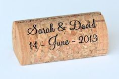 Wedding, Custom / Personalized Wine Cork Place / Escort Card Holders : Corkey Creations