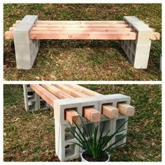 Easy DIY bench with wood, cinder blocks. http://guff.com/20-lesser-known-travel-destinations-to-visit-before-you-die/13