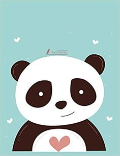 Sketch Book Cute Panda Cover X Inches 110 Pages Blank by Char for sale online Panda Wallpapers, Cute Cartoon Wallpapers, Panda Love, Cute Panda, Diy Canvas, Canvas Art, Kindergarten Art Projects, Christmas Drawing, Cute Images