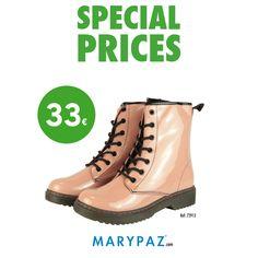 La moda más #sporty en #totalPINK  Descubre nuestros PRECIOS ESPECIALES en PRODUCTOS SELECCIONADOS   No esperes más y visita tu tienda MARYPAZ más cercana o entra ya en nuestra Online Store y disfruta del calzado más cool al mejor precio :)  #specialprices   Shop at ► http://www.marypaz.com/tienda-online/bota-militar-con-cordones-51272.html?sku=72913-35