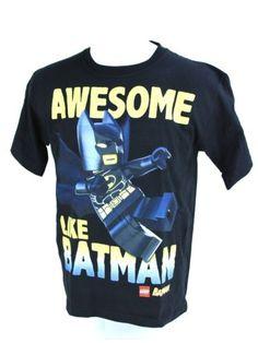 LEGO-Awesome-Like-Batman-Black-Novelty-T-Shirt-Tee-Youth-Kids