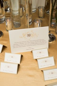 Love this, simple and elegant!Taupe and Gold Reception Place Cards Wedding Seating Cards, Wedding Reception Seating, Wedding Programs, Wedding Cards, Pink Hotel, Ballroom Wedding, Wedding 2015, Chicago Wedding, Taupe