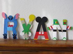 "Disney Character ""Mix it Up"" Letter Art"