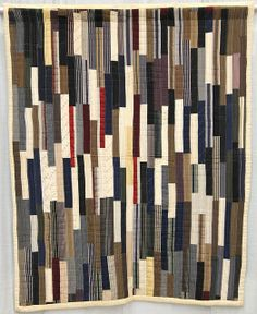 Strips quilt, c. 1975-2000, from the collection of Roderick Kiracofe.  QuiltCon 2013 exhibit.  Posted at undercover crafter