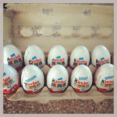 Samantha galley gallhead on pinterest easter idea use an empty egg carton and fill with kinder surprises negle