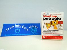Blood Stop Swabs - Stops Nails & Skin Bleeding for Dogs Cats Birds Small Animals #Petkin #BloodSwobs