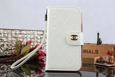 Chanel Samsung Galaxy S5 i9600 Book Wallet Case White Free Shipping - Deluxeiphonecase.com