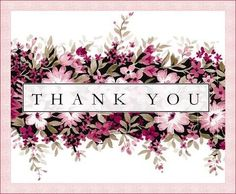 in Unique and Creative WaysSaying Thank You in Unique and Creative Ways Floral Thank You Black and Pink Rose Flowers Postcard ЕДИНОРОЖЕК - ИНТРОВЕРТ ( Thank You For Birthday Wishes, Thank You Wishes, Thank You Greetings, Thank You Quotes, Birthday Greetings, Thank You Cards, Birthday Cards, Happy Birthday, Thank You Pictures