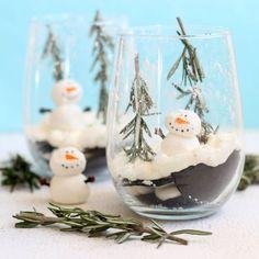 icebox cake snow globe dessert