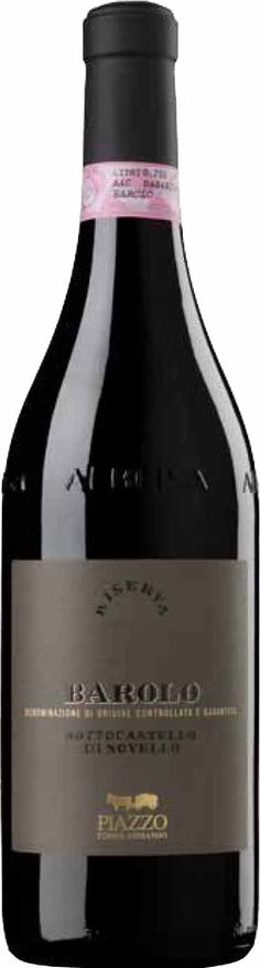 Piazzo #Barolo Riserva Varietal:  100% Nebbiolo  Color:  Deep red hues tinged with garnet  Bouquet:  Merging fruity overtones with a subtle layer of spices, cinnamon, cloves and #vanilla  Taste:  A warm, dry palate which is lush and full-bodied  Food #Pairing:  Roasted, stewed and #braised #meat dishes, and also great with very mature #cheeses