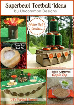Superbowl party ideas via uncommon designs #party #football