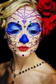 Image result for Day of the dead bride face paint