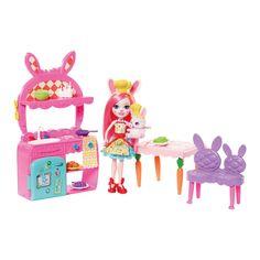 Enchantimals Kitchen Playset with Bree Bunny now in stock Tyrannosaurus, Ri Happy, Hot Wheels, Kawaii Jewelry, Mattel, Pink Table, Lol Dolls, Toys, Bright Pink