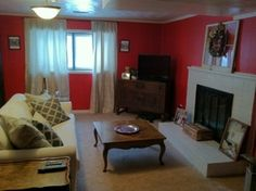Living Room update. Want red walls? Learn the secret of getting an even coat (If only I had known this!)