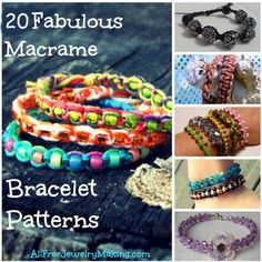 20 Fabulous Macrame Bracelet Patterns | AllFreeJewelryMaking.com